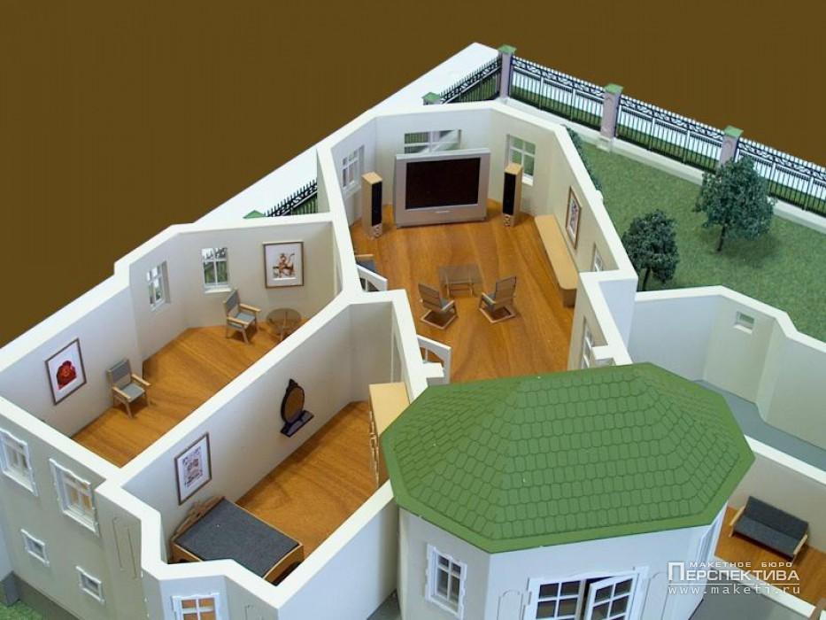 Фото макета дома